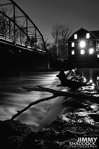 Night Picture of War Eagle Mill