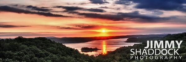 Beaver Lake at Sunrise HDR