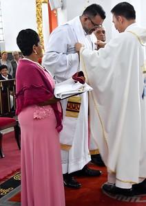 Vesting the new priest