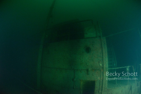 Odd angle but this is behind the wheelhouse. A different perspective