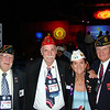 Aug. 27 - Convention floor with Arizona Past State Commanders (L to R) Ken Dowse, Dick Perry and George Cushing