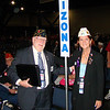 Aug. 27 - Convention floor with Ken Dowse, her immediate predecessor as State Commander