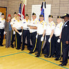 February - Akimel Middle School Patriotic Day - Posing with the Color Guard
