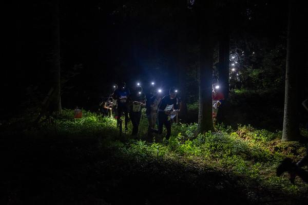 Jukolan öinen valomeri. Kuva: Pirjo Valjanen