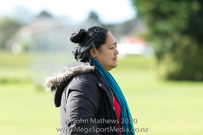Image of a spectator taken on 11 July 2020 at the Rugby match between St Patrick's College Silverstream (Blue) and New Plymouth Boys High School (Black) held at  St Patrick's College Silverstream , Heretaunga, Wellington, New Zealand.   Final Score: Stream 31 NPBHS 32