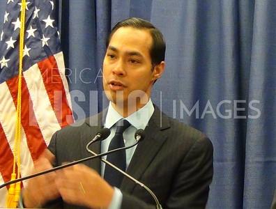 Julián Castro At Press Conference In Anchorage, AK