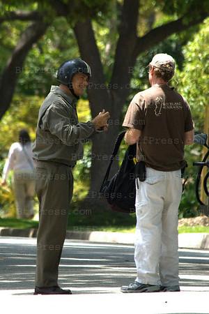 Julia Roberts and Tom Hanks during the set of Larry Crowne in Pasadena,California.