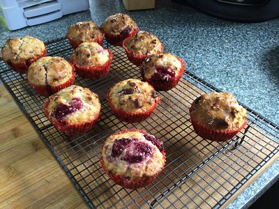 Raspberry & Lemon Muffins