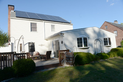 Tania Barricklo-Daily Freeman                      Solar panels cover the Noble's Kingston home.