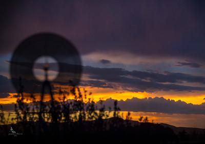Windmill at Sunset No 1