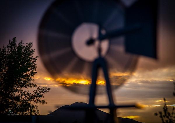 Windmill Sunset View