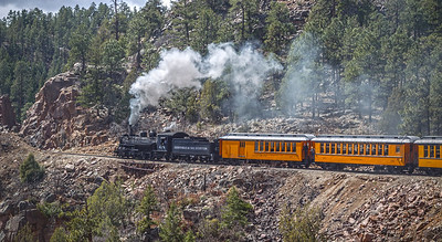 Trains - Durango & Silverton Train Headed Back