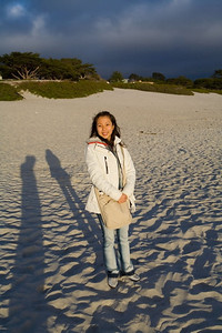 Carmel seaside with shadows