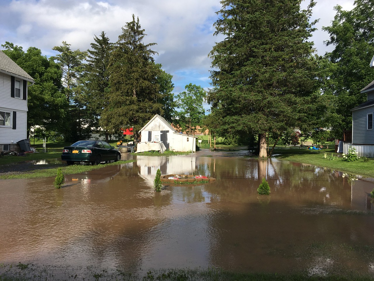 Andrew Aurigema - Oneida Daily Dispatch Several homes in Canastota were flooded following heavy rains on Saturday, July 1, 2017.