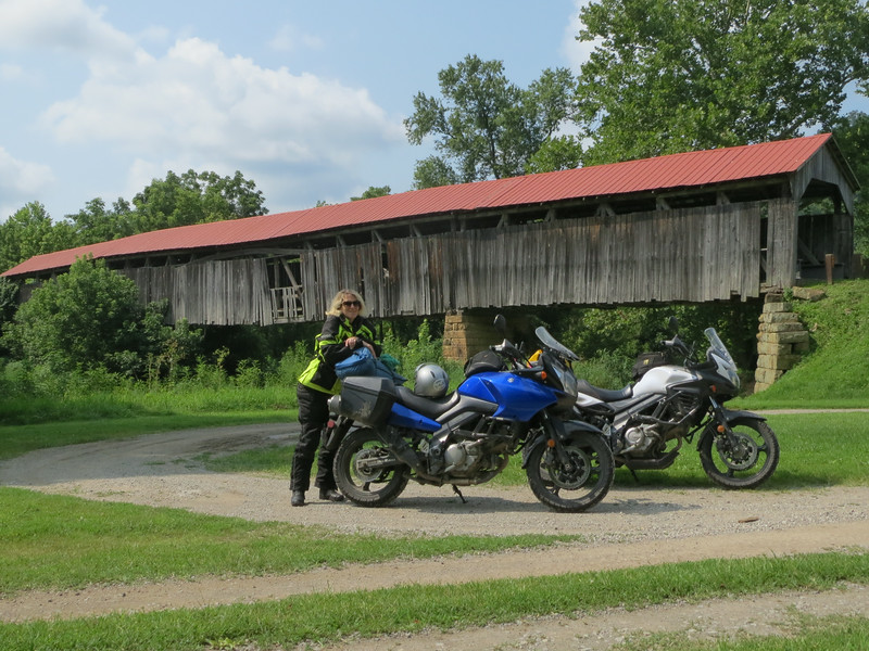 Day 4: Knowlton Covered Bridge off SR 26, taken 1.2 seconds before it collapsed.