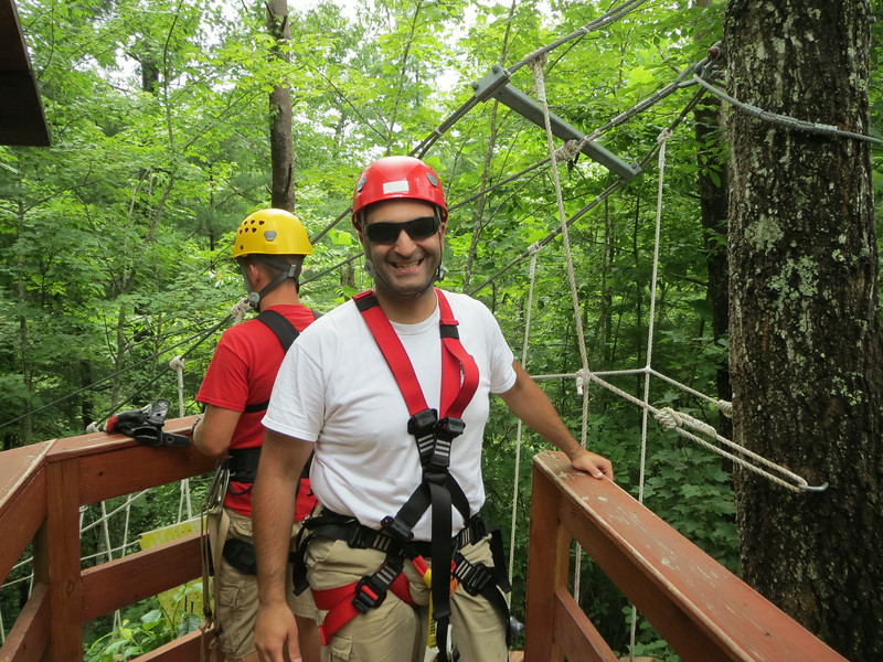 Day 3: Red River Gorge Zip Lines!  5 zips, longest is 2,000 feet, 360 feet up, over the gorge.  I don't smile a lot so enjoy it while you can.