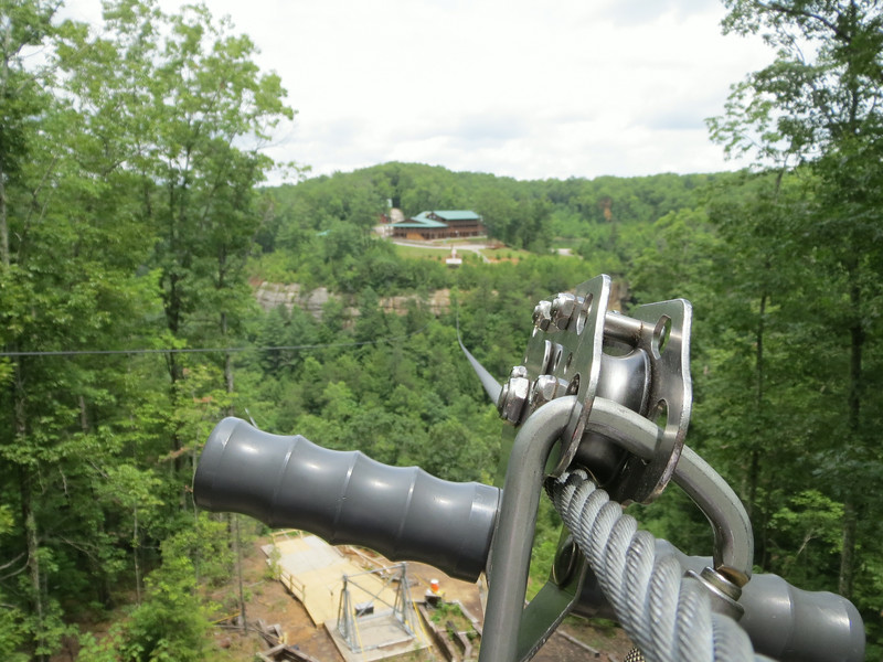 Day 3: Red River Gorge Zip Lines!  5 zips, longest is 2,000 feet, 360 feet up, over the gorge.  Zip's eye view.