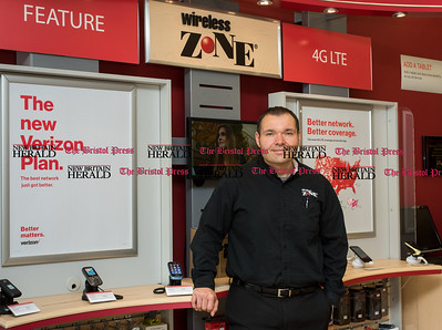 070816  Wesley Bunnell | Staff  Steve Nowak owns Wireless Zone located on Farmington Ave in Bristol which is a Verizon Wireless Authorized Retailer.