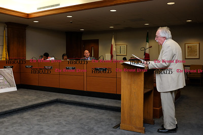 071116  Wesley Bunnell | Staff  Gil Bligh, Director of New Britain's Water Department spoke in favor of selling the Patton Brook Well. New Britain's Common Council held a public meeting to discuss a possible sale of the Patton Brook Well to the Town of Southington on Monday July 11.