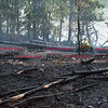072216  Wesley Bunnell | Staff<br /> <br /> A brush fire broke out on Caretaker Rd in Southington on Monday afternoon. Firefighters from Southington, New Britain & Berlin responded.  A 100' x 600' section on the west side of Caretaker Rd smolders.