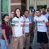 072616  Wesley Bunnell | Staff<br /> <br /> Milton Figueroa was arranged in New Britain Superior Court on Tuesday July 26th for his role in a shooting at Newbrite Plaza early Sunday. Fourth from the left is Marimar Larkin, Figueroa's sister, Roberto Alicea on crutches and family and friends.
