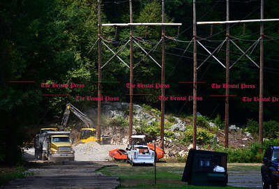 7/27/2016 Mike Orazzi | Staff Work being done near power transmission lines off Lake Avenue in Bristol on Wednesday morning.