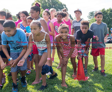 072816  Wesley Bunnell | Staff  The annual pencil hunt at Walnut Hill Park took place on Thursday morning July 28th. Campers wait for the official start .