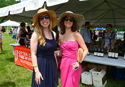 6/4/2016 Mike Orazzi | Staff Amy Fernald and her sister in-law Danielle Fernald during the 2016 Crazy Beverage and Wine Bash hosted by the The REACH Foundation and Mount Southington Ski Area in Southington Saturday.
