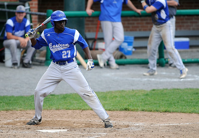 6/4/2016 Mike Orazzi | Staff Bristol Eastern's Adrian James (27) during a win in the Class L Quarterfinal at Muzzy Field Saturday.