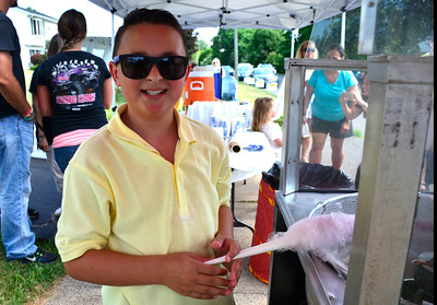 7/16/2016 Mike Orazzi | Staff Nico Fasold while running Nico's lemonade stand on Northwest Drive in Plainville Saturday morning to raise money for the Make-A-Wish Foundation.