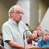 071916  Wesley Bunnell | Staff<br /> <br /> New Britain's Common Council held a meeting open to public speakers regarding the sale of the Patton Brook Well to Southington.  New Britain resident Robert Mathis gave a speech against the sale of the well.