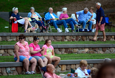 7/19/2016 Mike Orazzi | Staff Concert goers during the Eight to the Bar perfromance Tuesday night in Bristol's Rockwell Park.