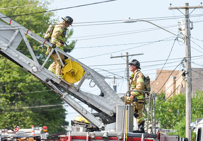 072016  Wesley Bunnell | Staff  112 Wilcox St. in New Britain was damaged by fire on Thursday afternoon.