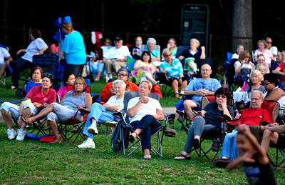 7/19/2016 Mike Orazzi | Staff Concert goers during the Eight to the Bar performance Tuesday night in Bristol's Rockwell Park.