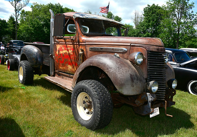 7/2/2016 Mike Orazzi | Staff An old rusted General Motors truck on display during the 11th annual Rumblers Nomads RUMBLE IN THE COUNTRY Car and Bike Show at the Terryville Fairgrounds Saturday morning.
