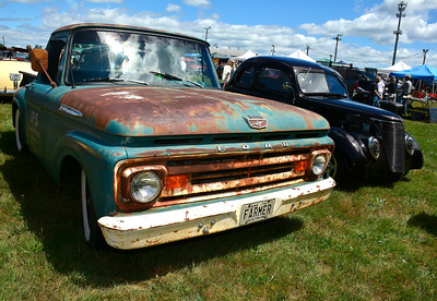 7/2/2016 Mike Orazzi | Staff A Ford pickup truck on display during the 11th annual Rumblers Nomads RUMBLE IN THE COUNTRY Car and Bike Show at the Terryville Fairgrounds Saturday morning.