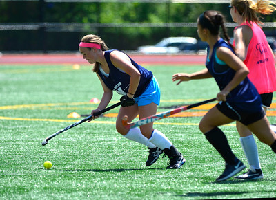 7/23/2016 Mike Orazzi | Staff Newington's Karley Welles during a U18 game at Veterans Memorial Stadium Saturday afternoon with the Immaculate Mustangs.