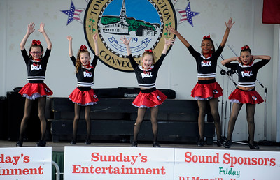 7/29/2016 Mike Orazzi | Staff  Dance City & the Arts dancers perform a tap routine during the 12th annual Italian American Festival on lower Center Street in downtown Southington Friday evening.