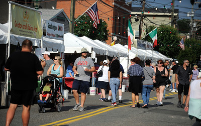 7/29/2016 Mike Orazzi | Staff  The 12th annual Italian American Festival on  lower Center Street in downtown Southington Friday evening.