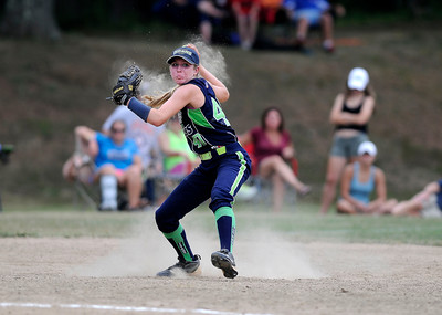 7/30/2016 Mike Orazzi | Staff  Connecticut Titans Nicole Wuller (40) during softball action at the Nutmeg Game at Sage Park in Berlin Saturday.