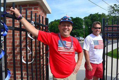 7/4/2016 Mike Orazzi | Staff Tom and Steve Roberts while in Rockwell Park for a Bristol Blues game and the fireworks show on Monday.