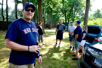 7/4/2016 Mike Orazzi | Staff Joe Furnari while in Rockwell Park for a Bristol Blues game and the fireworks show on Monday.