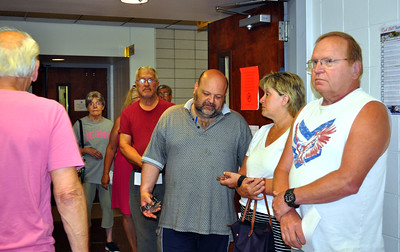 7/5/2016 Eve Britton | Staff Bristol tax payers wait to pay their bills at the tax collector's office in city hall Tuesday.