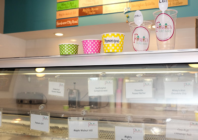 070516  Wesley Bunnell | Staff  Ice cream has a local flavor when it comes to names at Frisbie's Dairy Barn.