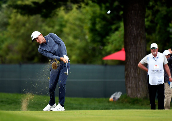 6/23/2018 Mike Orazzi | Staff Russell Henley during the 2018 Travelers Championship at TCP River Highlands Saturday in Cromwell.