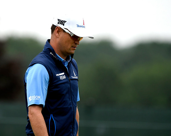 6/23/2018 Mike Orazzi | Staff Zach Johnson during the 2018 Travelers Championship at TCP River Highlands Saturday in Cromwell.