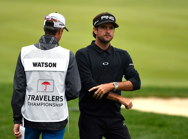 6/23/2018 Mike Orazzi | Staff Bubba Watson during the 2018 Travelers Championship at TCP River Highlands Saturday in Cromwell.