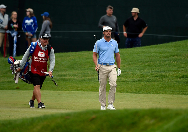 6/23/2018 Mike Orazzi | Staff Bryson DeChambeau during the 2018 Travelers Championship at TCP River Highlands Saturday in Cromwell.