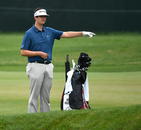 6/23/2018 Mike Orazzi | Staff Beau Hossler during the 2018 Travelers Championship at TCP River Highlands Saturday in Cromwell.