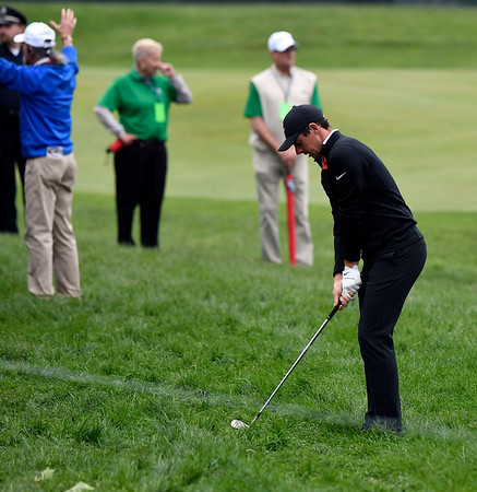 6/23/2018 Mike Orazzi | Staff Rory McIlroy during the 2018 Travelers Championship at TCP River Highlands Saturday in Cromwell.